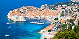 Idyllic Croatian harbourside in the town of Split highly popular with tourists