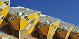 Cube houses known as Kubuswoningen in Rotterdam in the Netherlands